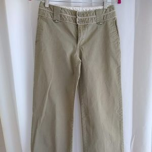 Gap Wide Leg Khaki Trousers